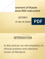 2- Measurement of Muscle Performance With Instrument