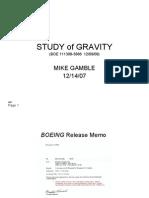 Study of Gravity