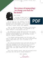 La Ciencia de La Numerologia y La Suerte