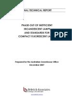 Report Technical Incandescent Lamps + CFLs V08