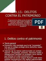 TEMA 13.- Delitos Contra El Patrimonio I