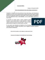 Comunicado Público en apoyo los Sindicatos de Trabajadores UST
