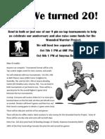 20th Anniversary Fun Tournaments!