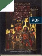 Vampiro Edad Oscura - Guía del jugador de los altos clanes(inglès)