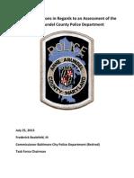 Anne Arundel Police Task Force Report