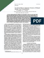 Limitaciones Del Mg y Su Papel Aparente en La Resistencia Al Etanol Durante La Fermentacion Por Levaduras