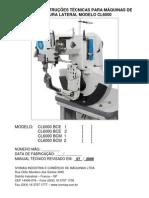 Manual Maquina Costura Lateral Tecnico CL 6000