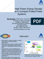 Evaluation of High Power Energy Storage Devices for Use in Compact Pulsed Power Systems