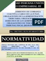 Procedimiento de Cobranza Coactiva, Derechos y Obligaciones de Los Administrados y Tribunal Fiscal