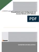 Procedimiento Configuracion de Acceso Remoto Kit Cctv Bticino