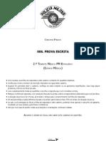 Vunesp 2012 Pm Sp 2o Tenente Medico Pm Estagiario Clinica Medica Prova