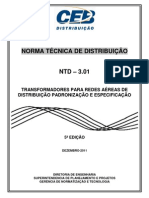 Ntd 3.01 - Transformadores Para Redes Areas de Distribuio