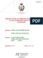 PROYECTO DE ALUMBRADO PÚBLICO PARA LA LOCALIDAD DE TORAL