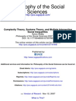 Complexity Theory, Systems Theory, And Multiple Intersecting Social Inequealities