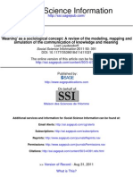 Meaning as a Sociological Concept a Review of the Modeling, Mapping And