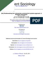 Problematizing the Luhmannian Constructivist Systems Approach