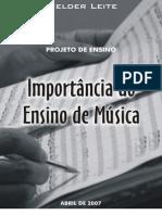 Projeto de Ensino de Música