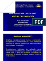 realidad virtual y psiquiatría - fvg - xx congreso app 2008