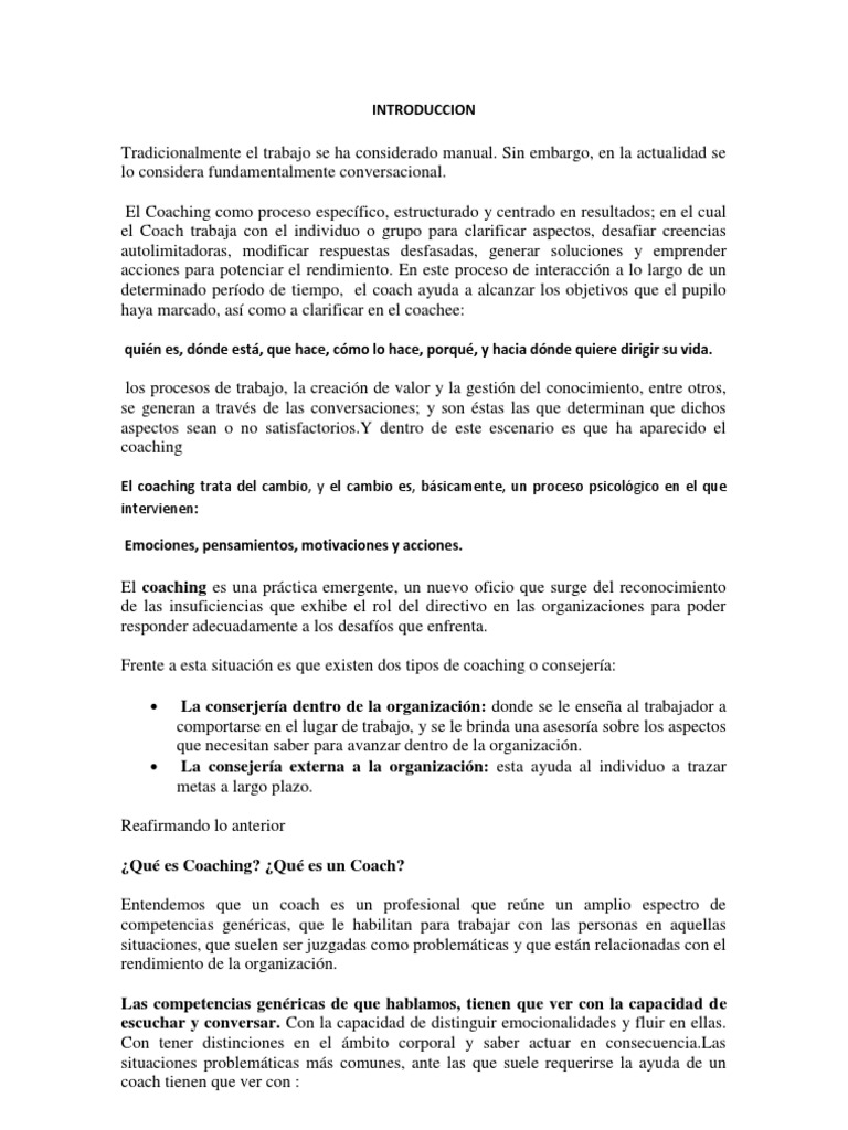 Famoso Plantilla De Plan De Desarrollo De Coaching Inspiración ...