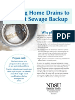 Plugging Home Drains to Prevent Sewage Back Ups