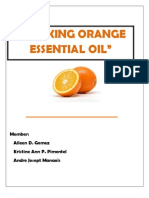 Making Orange Essential Oil