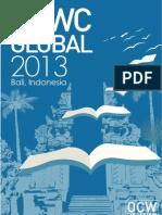OCWCGlobal2013 Proceedings