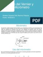 Uso Del Vernier y Micrometro