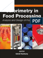 Calorimetry in Food Processing Analysis and Design of Food Systems Institute of Food Technologists Series