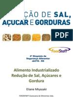 Redução de acucar e sal em alimentos palestra