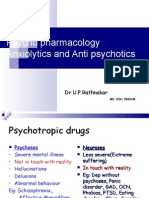 Pharmacology of Anxiolytics & Anti-Psychotics