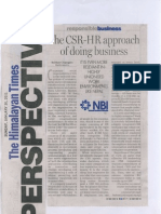 The CSR-HR Approach of Doing Businesses