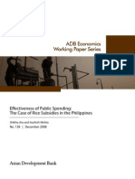 Effectiveness of Public Spending