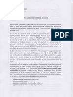 Carta a Presidente Econ. Rafael Correa