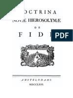 Emanuel Swedenborg | Doctrina Novae Hierosolymae de Fide