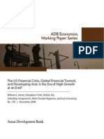 The US Financial Crisis, Global Financial Turmoil, and Developing Asia