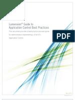 Application Control Best Practices
