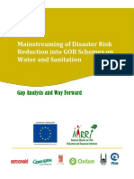 Mainstreaming of Disaster Risk Reduction into GOB Schemes on Water and Sanitation