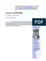 Probability is a Way of Expressing Knowledge or Belief That an Event Will Occur or Has Occurred