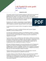 Temario de Español de sexto grado