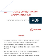 Vinasse Concentration and Incineration