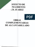 Proyecto Saneamiento Ciudad Juarez Obras Complementarias Alcantarillado (2-3)