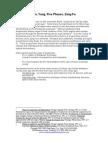 Yin Yang Five Phases and Zang Fu