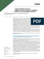 Asociacion Entre Hipomovilidad Cervical y Cambios Morfologicos de Los Musculos Multifidos Cervicales en Pacientes Con Cervicalgia Mecanica