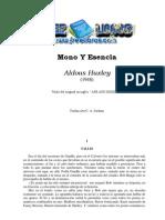 Huxley, Aldous - Mono Y Esencia