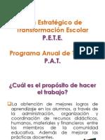 Exposición del Curso P.E.T.E. y P.A.T. 2013-2014