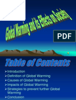 Global Warming and Its Effects on Society