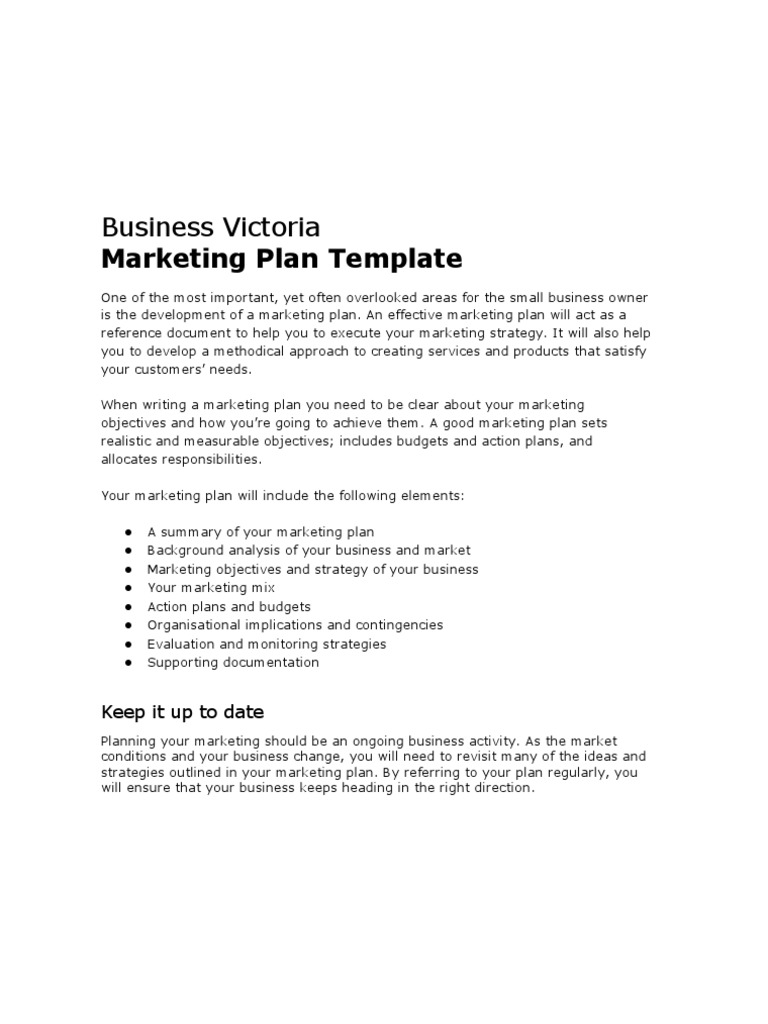 Business victoria marketing plan template sales marketing cheaphphosting Choice Image