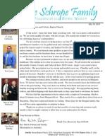 July Prayer Letter 2013