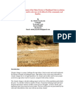 Impact of climate change in Pakur Dist, in Jharkhand State, India.
