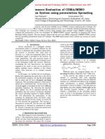 A Performance Evaluation of CDMA/MIMO Communication System using permutation Spreading